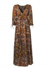 br�zowa sukienka Stradivarius we wzory - moda 2010