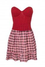czerwona sukienka Stradivarius - jesie�-zima 2010/2011