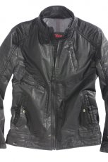 czarna kurtka s.Oliver ze sk�ry - jesie�/zima 2010/2011