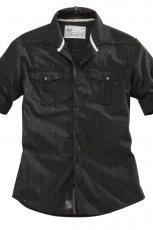 czarna koszula s.Oliver w paski - z kolekcji jesie�-zima