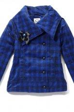 niebieska kurtka House w kratk� - moda jesie�/zima 2010