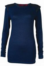 granatowa bluzka Top Secret - trendy na jesie�-zim�