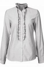 bia�a koszula Top Secret z �abotem - moda 2010