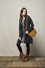 szara sukienka Element Eden - moda jesienna