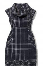 czarna sukienka Mohito w kratk� - jesie�/zima 2010/2011