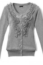 szary sweter Mohito rozpinany - jesie�-zima 2010/2011