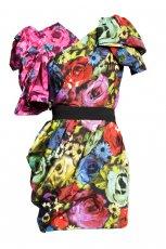 kolorowa sukienka H&M - jesie�/zima 2010/2011