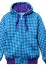 niebieska bluza House z kapturem rozpinana - jesie�-zima 2010/2011