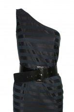 czarna sukienka z paskiem Simple - jesie�/zima 2010/2011