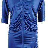 niebieska drapowana satynowa sukienka Simple - jesie�/zima 2010/2011