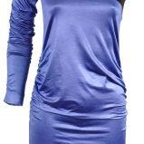 b��kitna sukienka z satyny na jedno rami� Simple - jesie�/zima 2010/2011