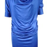 niebieska tunika z satyny Simple - jesie�/zima 2010/2011