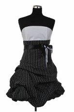 czarna sukienka wieczorowa AgataRe w paski