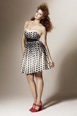 czarna sukienka H&M w kropki - wiosna/lato 2011