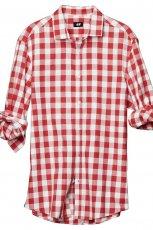 czerwona koszula H&M w kratk� - wiosna/lato 2011