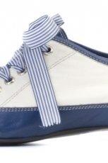 niebieskie pantofle Ry�ko sznurowane - moda 2011