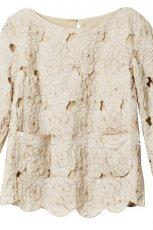 ecru bluzka H&M - kolekcja wiosenno/letnia