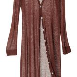 br�zowy sweter H&M d�ugie - wiosna/lato 2011