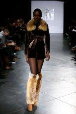 br�zowy �akiet Eva Minge z futerkiem - kolekcja jesienno-zimowa