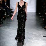 czarna suknia Eva Minge b�yszcz�ca - jesie�/zima