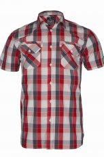 czerwona koszula Troll w kratk� - wiosna/lato 2011