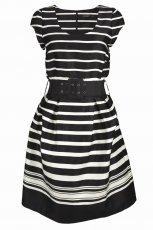 czarna sukienka Top Secret w paski - kolekcja wiosenno/letnia
