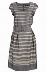 popielata sukienka Top Secret w paski - moda 2011