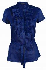 niebieska koszula Top Secret z falbanami - moda 2011
