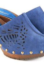 niebieskie drewniaki Venezia - z kolekcji wiosna-lato 2011