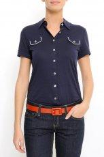 granatowa bluzka Mango - z kolekcji wiosna-lato 2011