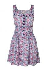 niebieska sukienka Stradivarius w kwiaty - wiosna/lato 2011