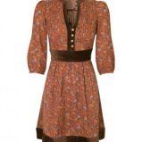 br�zowa sukienka Stradivarius w kwiaty - kolekcja wiosenno/letnia
