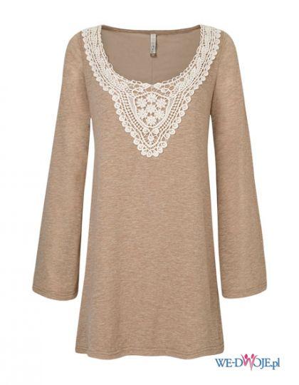 be�owa sukienka Stradivarius z koronk� - moda 2011