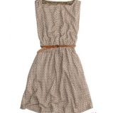 be�owa sukienka Pull and Bear w ��czk� - moda 2011