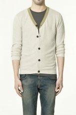ecru sweter ZARA rozpinany - z kolekcji wiosna-lato 2011