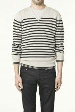 ecru sweter ZARA w paski - trendy wiosna-lato