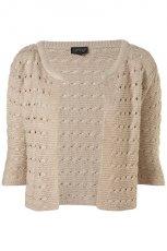 be�owy sweter Topshop - moda wiosna/lato