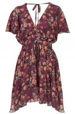bordowa sukienka Topshop w kwiaty - wiosna-lato 2011