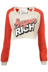 ecru bluza Topshop z nadrukiem - z kolekcji wiosna-lato 2011