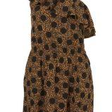 br�zowa tunika Topshop w geparda asymetryczna - lato 2011