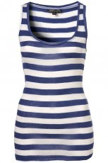 niebieski top Topshop w paski - moda 2011