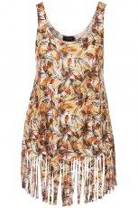 kolorowa bluzka Topshop we wzory - wiosna-lato 2011