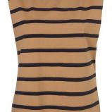 br�zowa koszulka Topshop w paski - trendy wiosna-lato