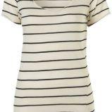 ecru koszulka Topshop w paski - kolekcja na lato