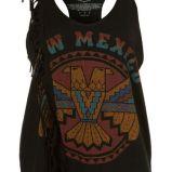 czarna koszulka Topshop z nadrukiem - trendy wiosna-lato