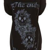 czarny t-shirt Topshop z nadrukiem - trendy wiosna-lato