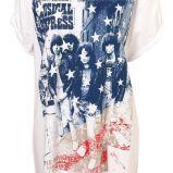 bia�y t-shirt Topshop z nadrukiem - moda wiosna/lato