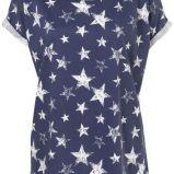granatowy t-shirt Topshop w gwiazdki - moda 2011