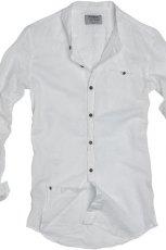 bia�a koszula Pull and Bear - moda 2011