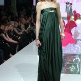 ciemnozielona sukienka Dawid Woli�ski - kolekcja na lato